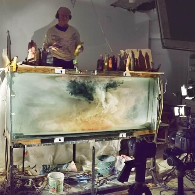 Kim Keever. Картина под водой – подготовка