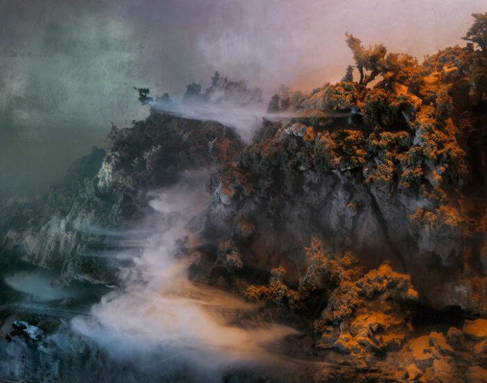 Kim Keever. Картина под водой – обрыв