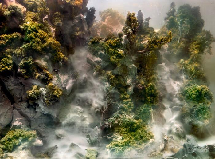 Kim Keever. Картина под водой – туман